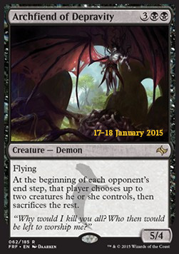 Archfiend of Depravity, Fate Reforged Promos