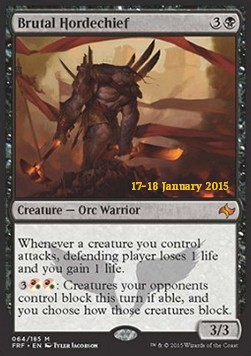 Brutal Hordechief, Fate Reforged: Promos