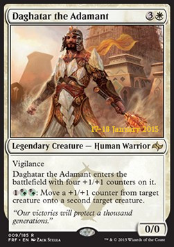 Daghatar the Adamant, Fate Reforged Promos