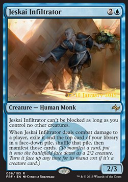 Jeskai Infiltrator, Fate Reforged Promos