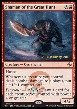 Shaman of the Great Hunt, Fate Reforged: Promos