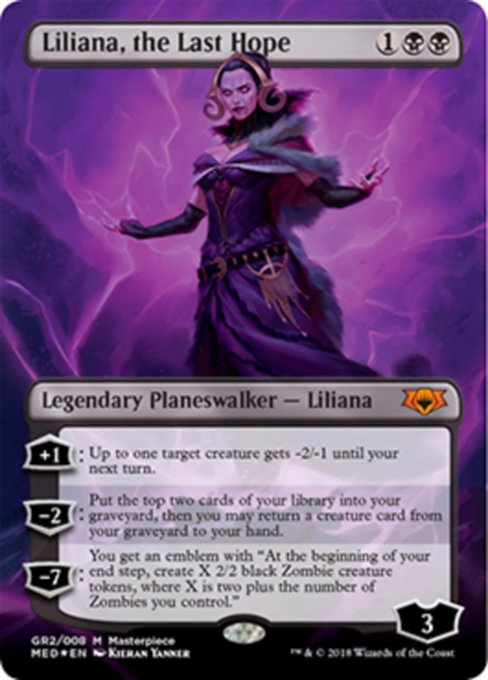 Liliana, the Last Hope, Guilds of Ravnica Mythic Edition