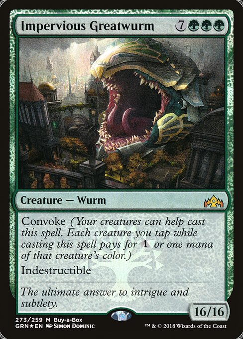 Impervious Greatwurm, Buy a Box Promos