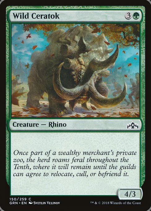 Wild Ceratok, Guilds of Ravnica