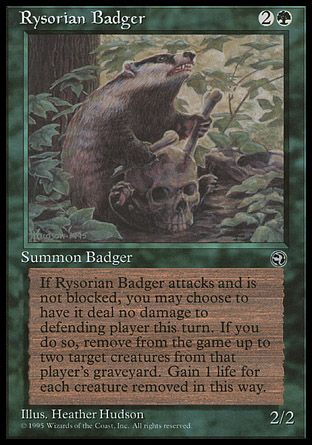 Rysorian Badger, Homelands