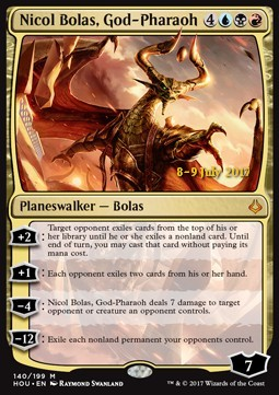 Nicol Bolas, God-Pharaoh, Hour of Devastation Promos