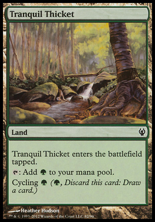 Tranquil Thicket, Izzet vs Golgari