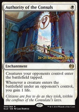 Authority of the Consuls, Kaladesh Promos