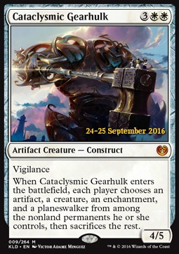 Cataclysmic Gearhulk, Kaladesh Promos