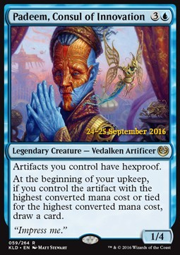 Padeem, Consul of Innovation, Kaladesh Promos