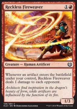 Reckless Fireweaver, Kaladesh