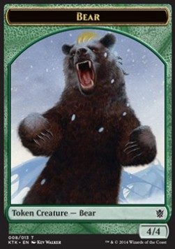 Bear Token, Khans of Tarkir