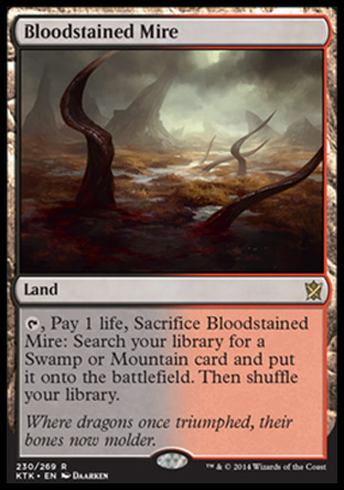 Bloodstained Mire, Khans of Tarkir