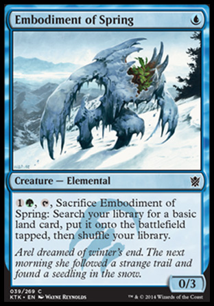 Embodiment of Spring, Khans of Tarkir