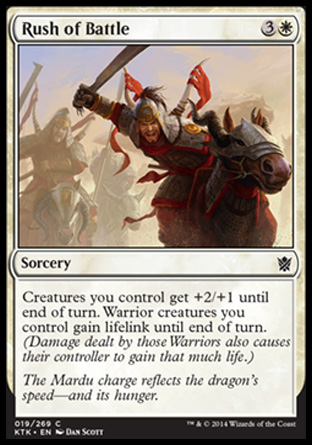 Rush of Battle, Khans of Tarkir