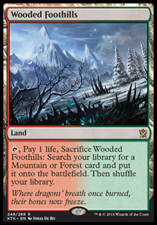 Wooded Foothills, Khans of Tarkir