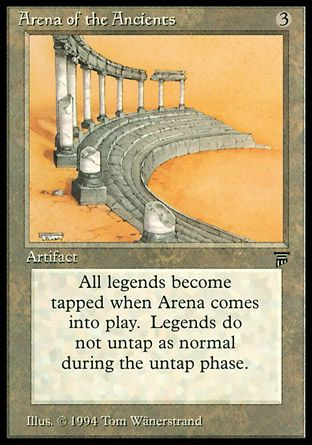 Arena of the Ancients, Legends