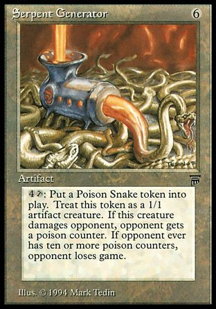 Serpent Generator, Legends