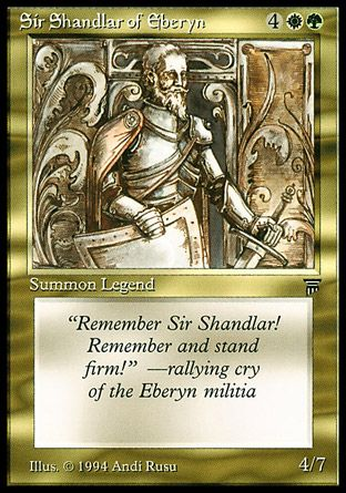 Sir Shandlar of Eberyn, Legends