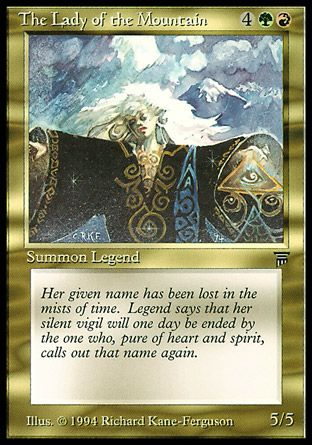 The Lady of the Mountain, Legends