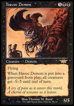 Havoc Demon, Legions