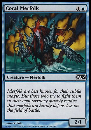 Coral Merfolk, Magic 2010