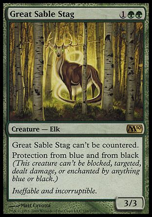Great Sable Stag, Magic 2010