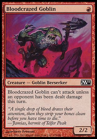 Bloodcrazed Goblin, Magic 2011