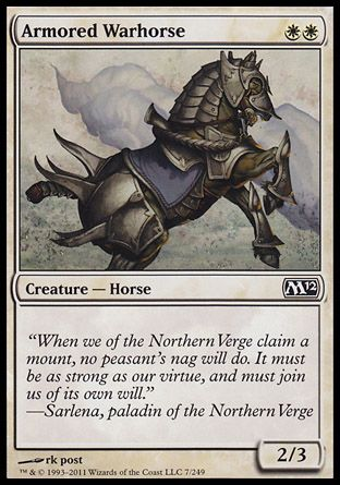 Armored Warhorse, Magic 2012