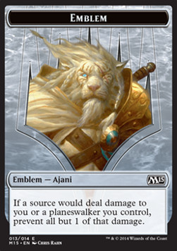 Ajani Steadfast Emblem, Magic 2015