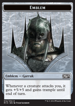 Garruk, Apex Predator Emblem, Magic 2015