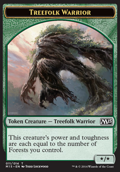 Treefolk Warrior Token, Magic 2015