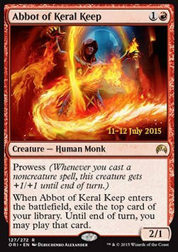 Abbot of Keral Keep, Magic Origins Promos