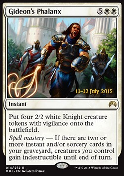 Gideon's Phalanx, Magic Origins Promos