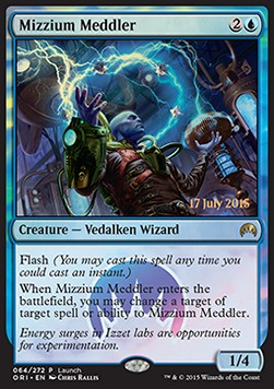 Mizzium Meddler, Magic Origins Promos