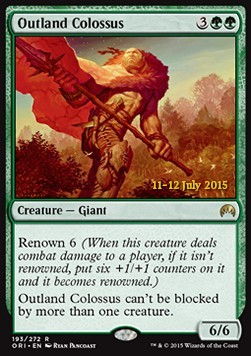 Outland Colossus, Magic Origins: Promos