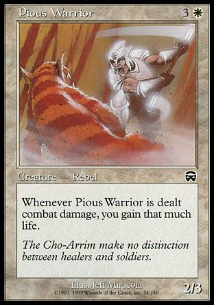 Pious Warrior, Mercadian Masques