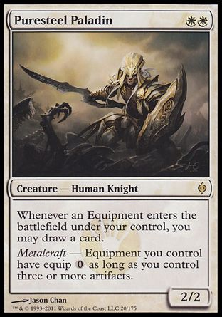 Puresteel Paladin, New Phyrexia