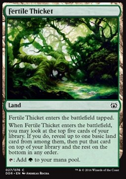 Fertile Thicket, Nissa vs Ob Nixilis