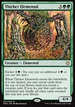 Thicket Elemental, Nissa vs Ob Nixilis