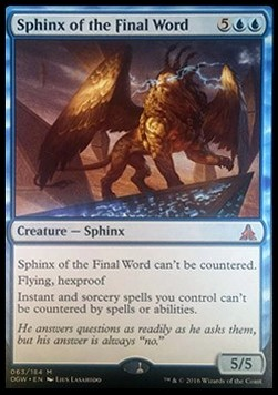 Sphinx of the Final Word, Oath of the Gatewatch