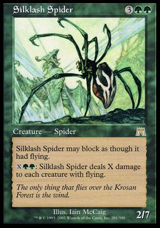 Silklash Spider, Onslaught