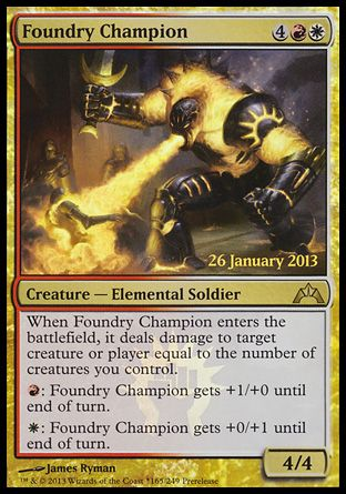 Foundry Champion, Prerelease Events