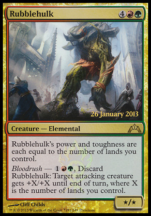 Rubblehulk, Prerelease Events