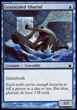Grayscaled Gharial, Ravnica