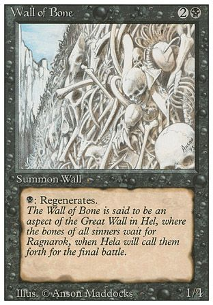 Wall of Bone, Revised
