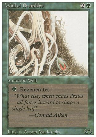 Wall of Brambles, Revised