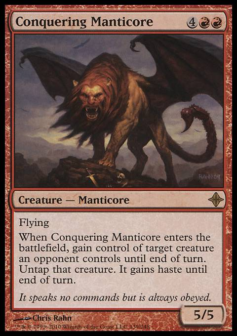 Conquering Manticore, Rise of the Eldrazi