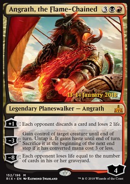 Angrath, the Flame-Chained, Rivals of Ixalan Promos