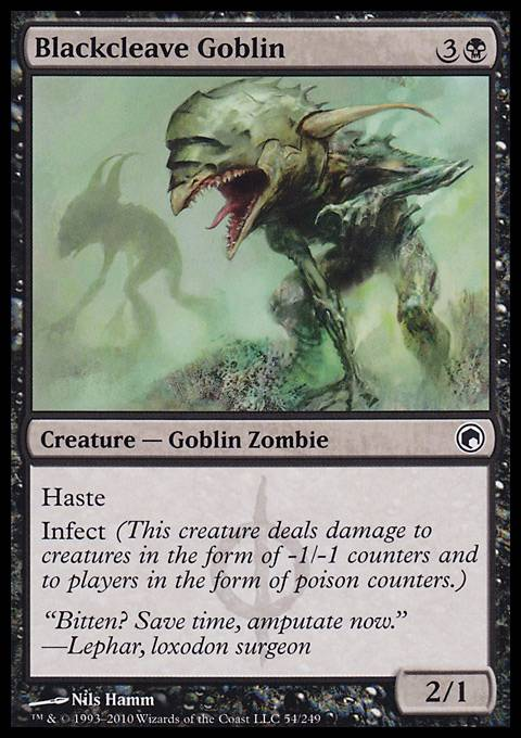 Blackcleave Goblin, Scars of Mirrodin